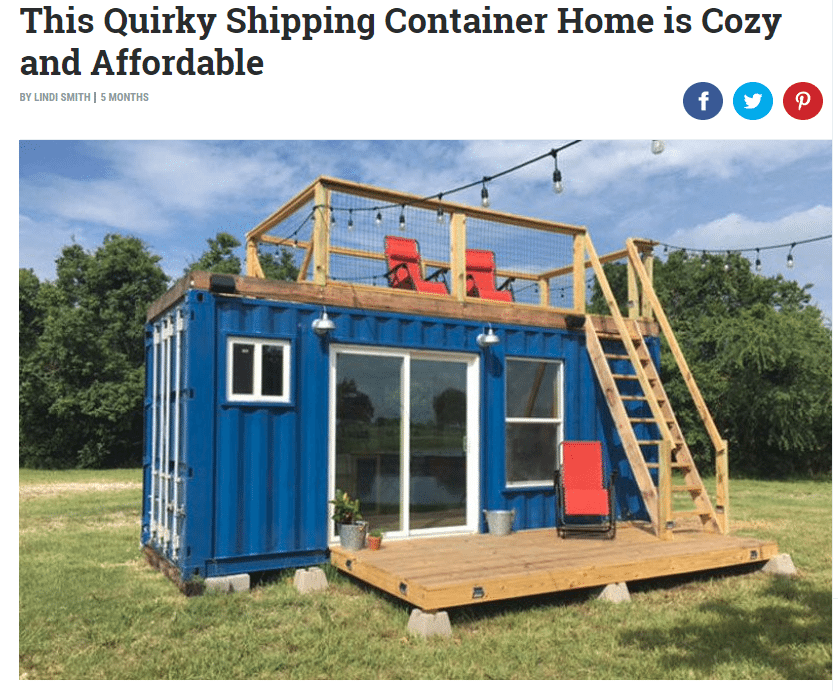 News backcountry containers for Wide open country cabins
